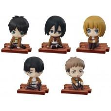 01-94104 Bandai Attack on Titan Suwarasetai Sitting Collection Set of 5