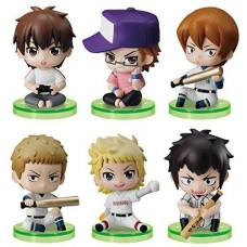 01-97116 Ace of Diamond Baseball Suwarase Team Sitting Mini Figures Capsule Toy 400y