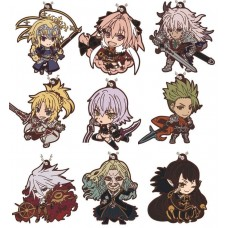 01-18277 Fate / Apocrypha Capsule Rubber Mascot 300y  -  Set of 9