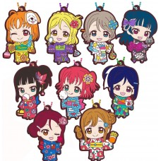 01-29377 Love Live! School Idol Project Sunshine!! Capsule Rubber Mascot Vol. 11 Yukata Kimono Dress Version 300y