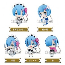 01-35585 Re:Zero Starting Life in a Different World Capsule Collection Rem Figure Mascot 300y