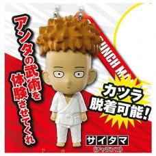 01-87802 One Punch Man Mini Figure Mascot Key Chain Vol. 3  300y - Saitama  / Charanko