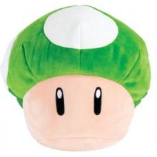 T12971 TOMY Club Mocchi-Mocchi- Nintendo Super Mario Mega 1-Up Mushroom Plush Stuffed Toy
