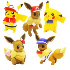 02-87249 Pokemon Let's Go  Pikachu and Eevee Adventure Mini Figure Collection 300y