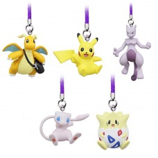 02-87674 Pokemon Netsuke Mascot Mewtwo Strikes Back Evolution Figure Mascot Strap 200y