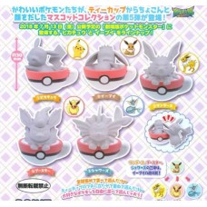 02-29335 Pokemon pocket Monsters Tea Cup time Mascot Figure Vol. 5 300y