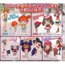 02-85720 Pokemon Deformed Figure Series Mini - Pokemon Trainers Girls Special 300y - Set of 5
