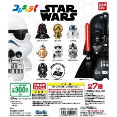 CM-20151 Bandai Star Wars Kore Chara!Collection Characters Gashapon Mini SD Figure 300y - Set of 7