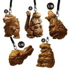 M1-20127 Bandai Godzilla Netsuke Figure Strap / Mascot 200y - Set of 5